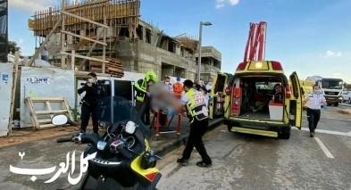 رمات غان: إصابة عاملين إثر إنهيار سقالة