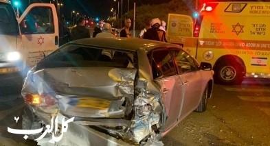 إصابتان في حادث سير على شارع رقم 60 قرب مفرق عومر