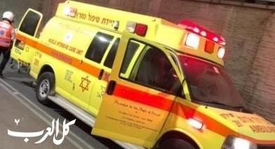 اصابة رجل (44 عامًا) اثر انزلاق دراجة نارية