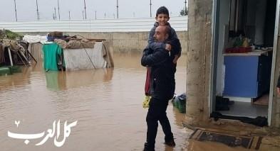 سكان من حي البدو في الطيبة: بيوتنا غرقت