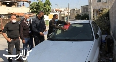 مجلس كفر قرع المحلي يطلق حملة لإزالة السيارات القديمة