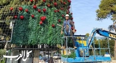 جمعية الموكب: الاستعداد لحفل اضاءة شجرة الميلاد في الناصرة