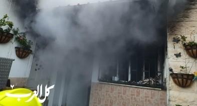 باقة الغربية: اندلاع النيران بمنزل وقاعة افراح