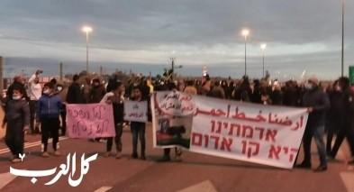 النقب: مظاهرة حاشدة ضد الهدم والمصادرة