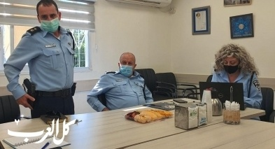 اللواء جمال حكروش يزور مركز شرطة اللد