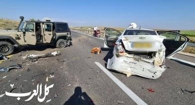 إصابة 8 أشخاص في حادث وازمة سير خانقة