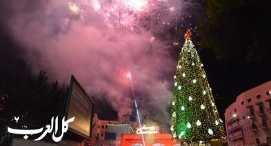 الناصرة: الاحتفال بإضاءة شجرة الميلاد