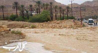منخفض جوي في النقب يؤدي إلى عالقين وفيضانات وأضرار في القرى مسلوبة الاعتراف