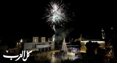 إضاءة شجرة الميلاد في بيت لحم وسط قيود احترازية مشددة