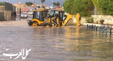 مجلس حورة يجند آليات لشفط مياه الأمطار