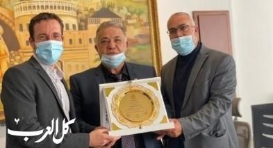 السعدي ووزير العمل يزوران بلدية الناصرة