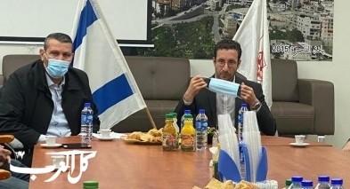 وزير العمل يزور مجلس يافة الناصرة