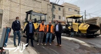 يافة الناصرة: انجاز مشروع تعبيد شارع البلدة القديمة