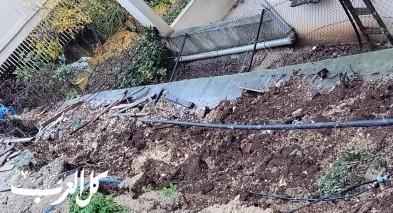 الحجاجرة: انهيار جدار بسبب الامطار دون وقوع اصابات