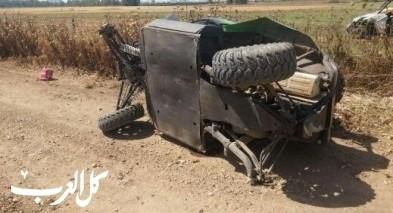 اصابة شاب (20 عامًا) اثر سقوطه عن تراكتورون قرب ترشيحا