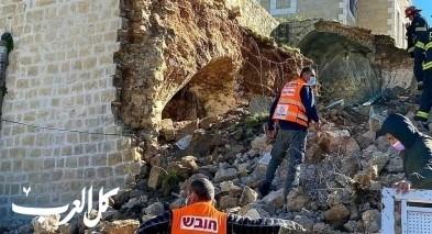 ابو غوش: انهيار مبنى مأهول وقديم دون اصابات