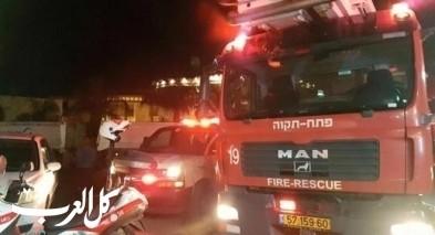 اندلاع حريق داخل مدرسة في معليا