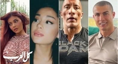 من هم أكثر المشاهير متابعة على إنستغرام؟