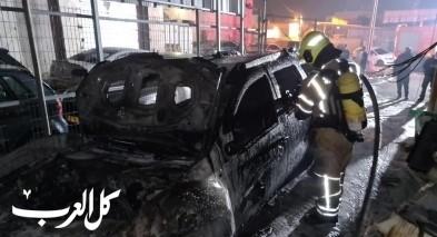 كفرياسيف: اندلاع حريق في سيارتين