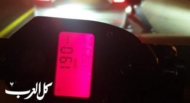 ضبط شاب من سكان كفرقاسم يقود بسرعة فائقة