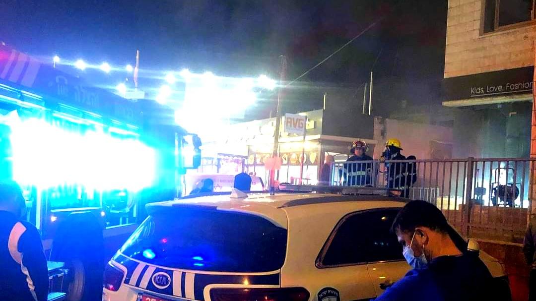 سخنين: اندلاع حريق بمحل ملابس دون اصابات