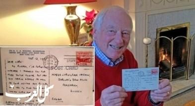 بريطانيا| بطاقة معايدة تصل صاحبها بعد 66 عامًا