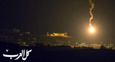 الجيش السوري يعلن عن هجوم إسرائيلي بالصواريخ