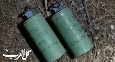 الخليل: الشرطة الاسرائيلية تضبط أسلحة وقنابل