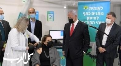 نتنياهو ووزير الصحة إدلشتاين بزيارة إلى صندوق المرضى
