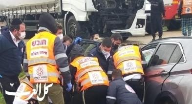 إصابتان في حادث طرق قرب بلدة الريحانية