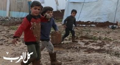صور| الشتاء في مخيمات اللاجئين السوريين