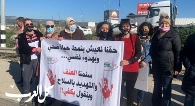 طمرة: إغلاق شارع 70 في تظاهرة احتجاجية