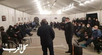 وادي عارة: إفتتاح خيمة الإعتصام ضد العنف