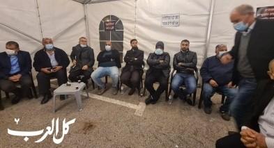 وادي عارة: حضور لافت في خيمة الإعتصام