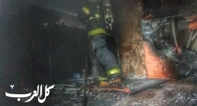 الرملة: اندلاع حريق في مخزن بلاستيك