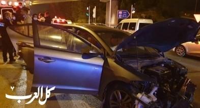 اصابة 3 اشخاص بحادث طُرق قرب كفرقرع