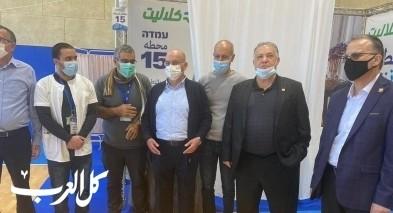 رئيس بلدية الناصرة يتفقد محطة التطعيم