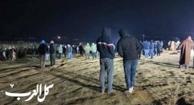 حورة: جماهير غفيرة تشارك في جنازة الشاب سعيد النباري