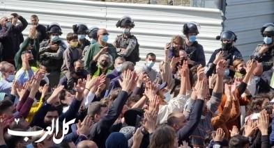ام الفحم توّجه المتظاهرين لمركز الشرطة