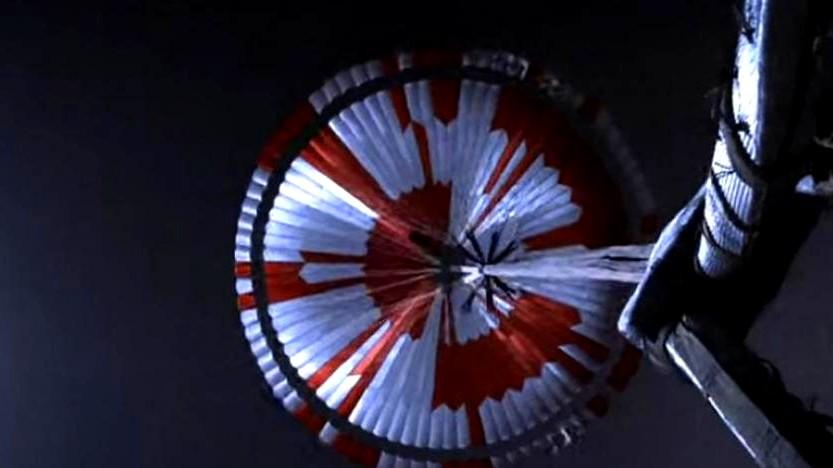 أول فيديو لهبوط مسبار ناسا على المريخ