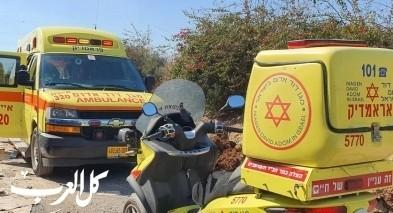 اصابة عامل اثر سقوطه عن ارتفاع في حيفا