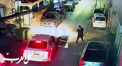 توثيق بالفيديو - اطلاق نار كثيف على منزل في نحف