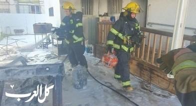 الرملة: اندلاع حريق في ساحة منزل