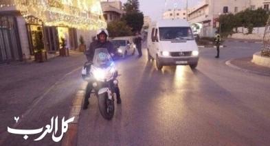جنين: مركبة تقوم بدعس احد عناصر الشرطة