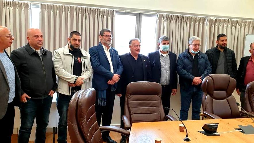 بلدية الناصرة  زيارة تضامنية لبلدية أم الفحم