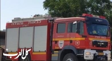 طوبا الزنغرية| اصابة سائق شاحنة اثر حادث ذاتي