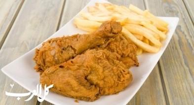 بروستد الدجاج على طريقة المطاعم