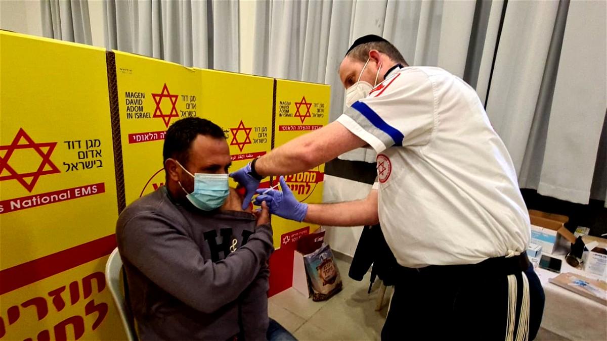 داود الحمراء تبدأ مشروع تطعيم العمال الفلسطينيين