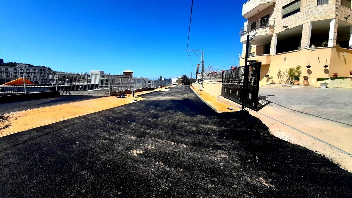 بلديّة طمرة - إعادة بناء وتعبيد الشّارع بجانب روضات حيّ شقير