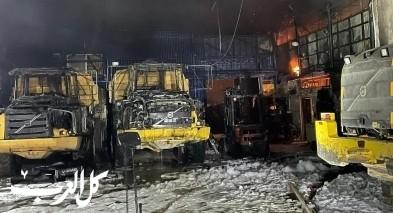 اضرار جسيمة بعد اندلاع النيران بمبنى في كريات حاييم